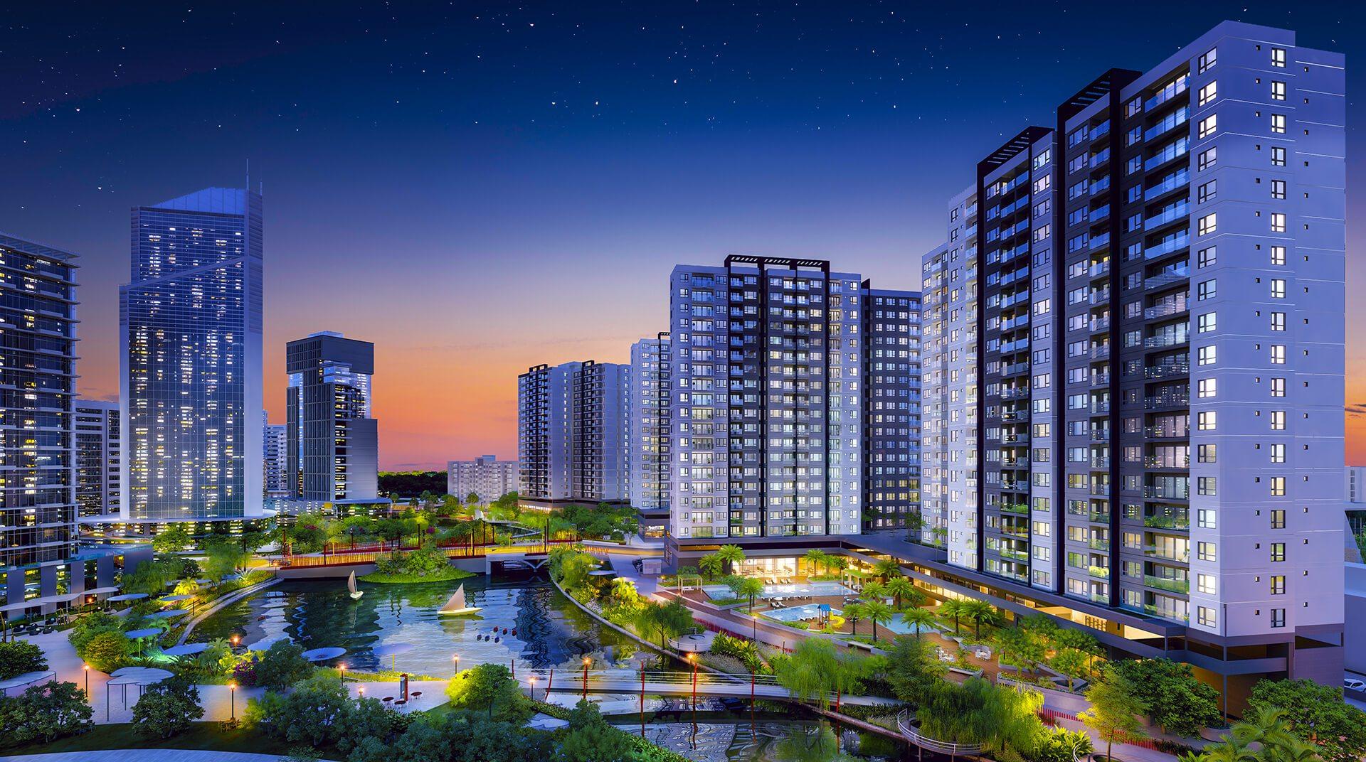 Phối cảnh Dự án Khu căn hộ Flora Mizuki Park Nam Long Bình Chánh
