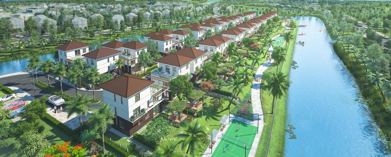 Phối cảnh Dự án biệt thự Valora Island - Nam Long Bình Chánh. Nam Long HCM