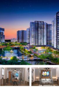 Phối cảnh về đêm đáng mơ ước của KĐT Mizuki Park. Ảnh Nam Long hcm