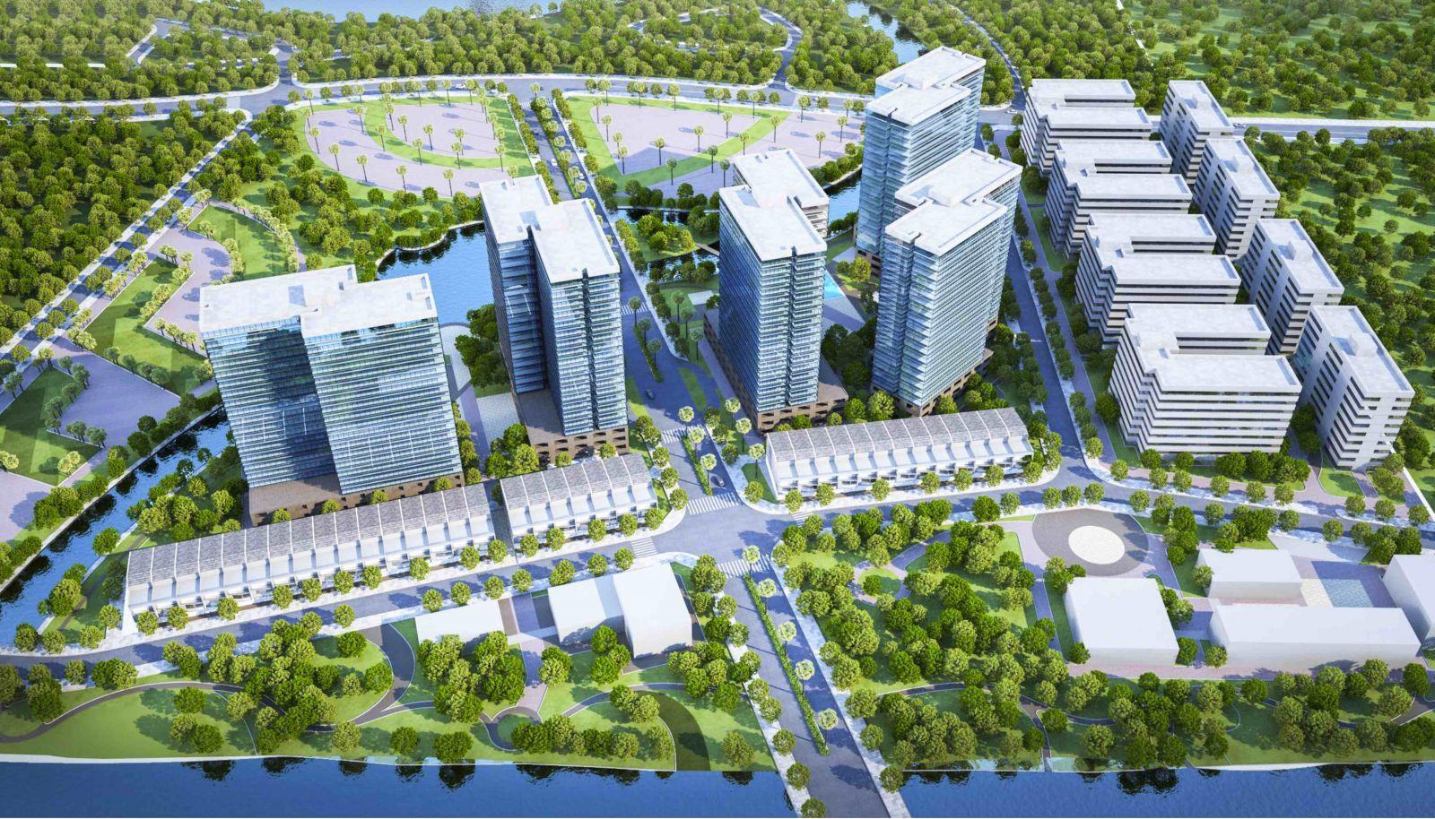 Phối cảnh dự án Mizuki Park Bình Chánh với tổng diện tích lên tới 26 hecta