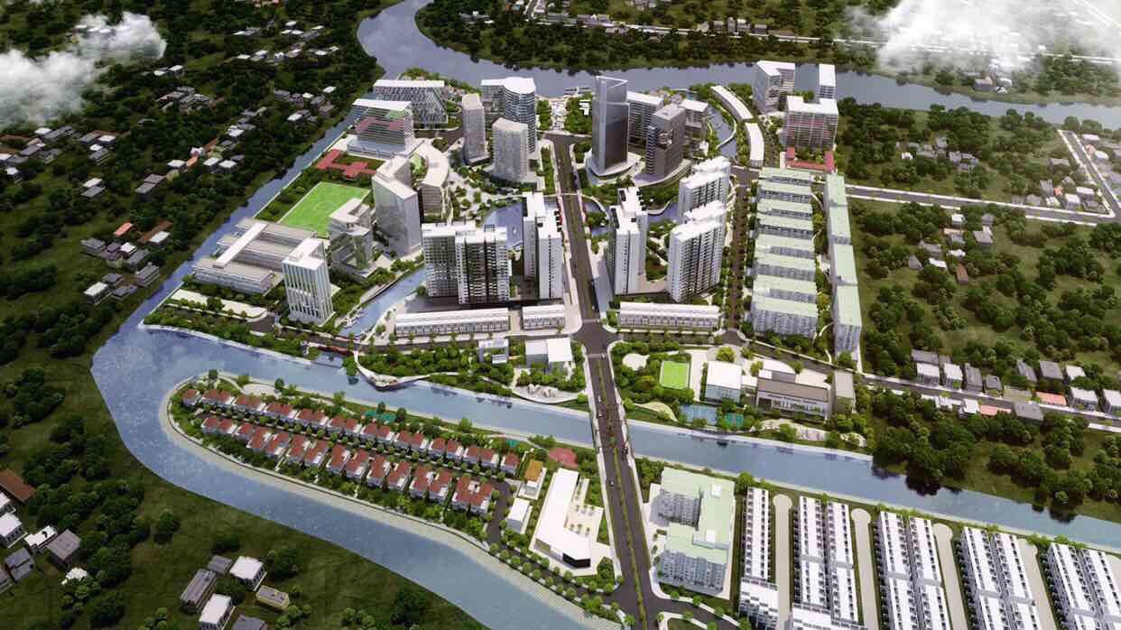 Phối cảnh tổng thể dự án Mizuki Park Nam Long