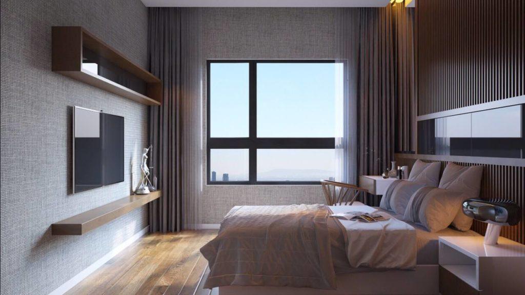 Nhà mẫu Mizuki Park - Phòng ngủ Master căn hộ Mizuki Park.