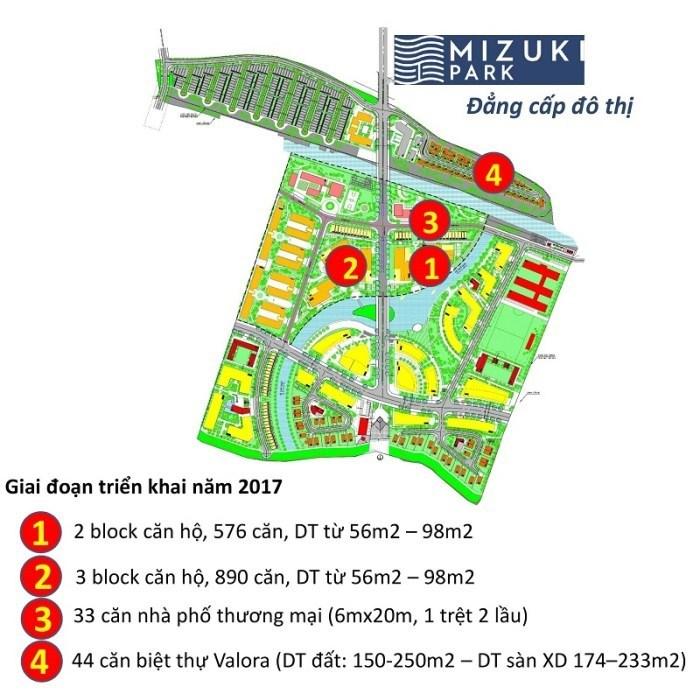 Mô hình tiến độ dự án Mizuki Park.