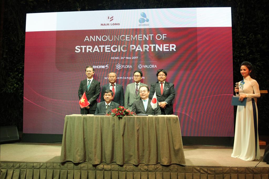 Lễ ký kết hợp tác giữa Tập đoàn Nam Long và Công ty Anabuki Housing Service Nhật Bản