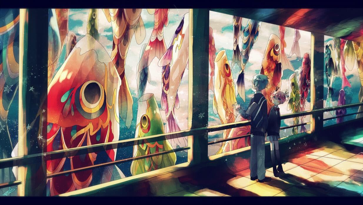 Hình ảnh Diều Cá Koi được thể hiện trong nhiều tắc phẩm văn học, truyện của người Nhật. Các bạn trẻ đam mê truyện tranh Nhật thì không quá xa lạ với hình ảnh này.