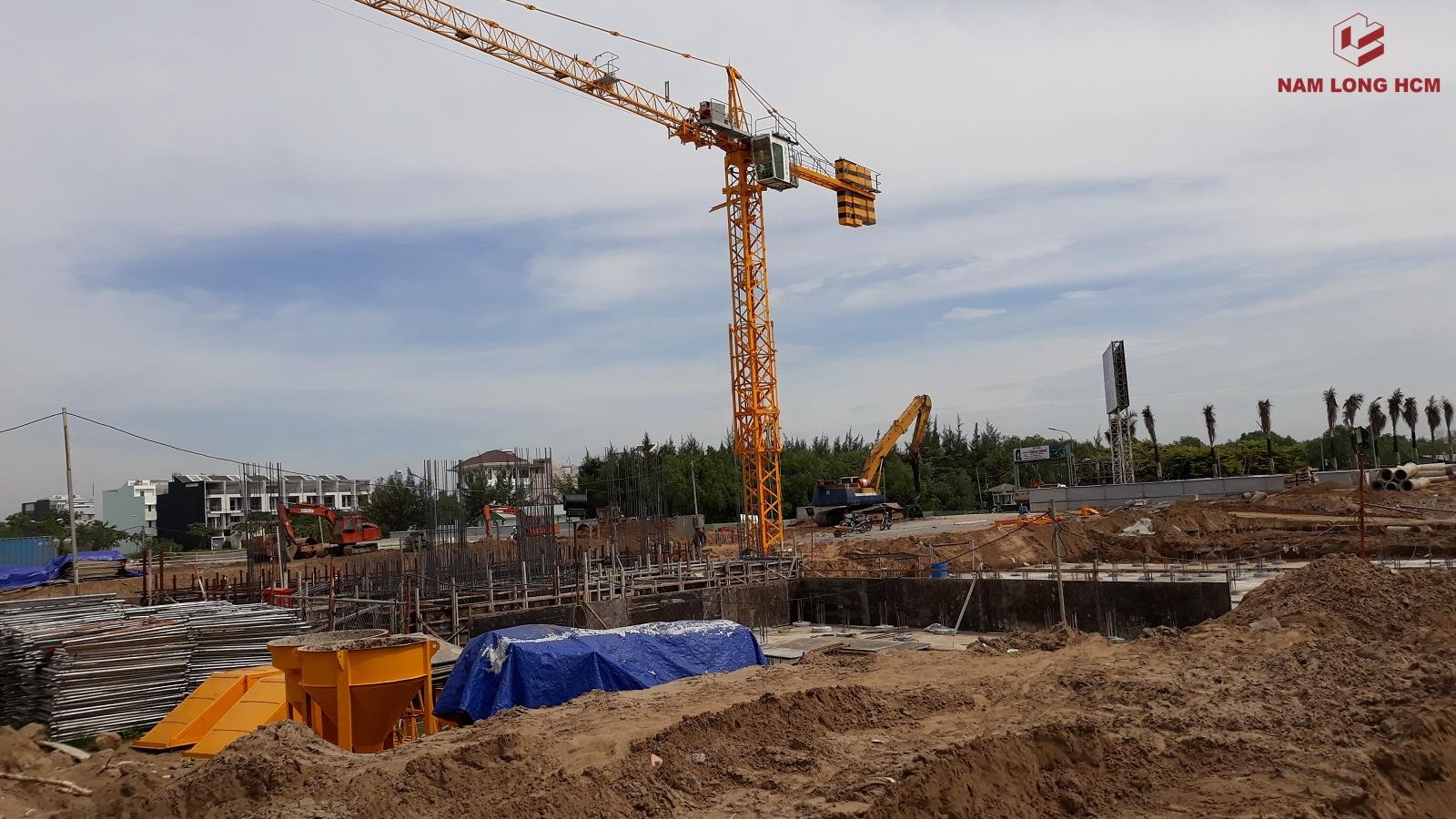 Tiến độ xây dựng Nhà ở xã hội Ehome S Bình Chánh. Ảnh: Nam Long HCM