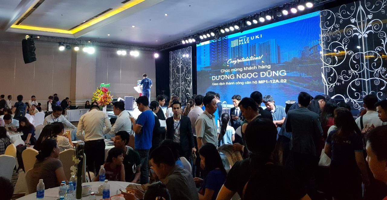 Nam Long tổ chức lễ mở bán căn hộ thuộc dự án Mizuki Park Bình Chánh trong Quý 4/2017. Ảnh: Nam Long HCM