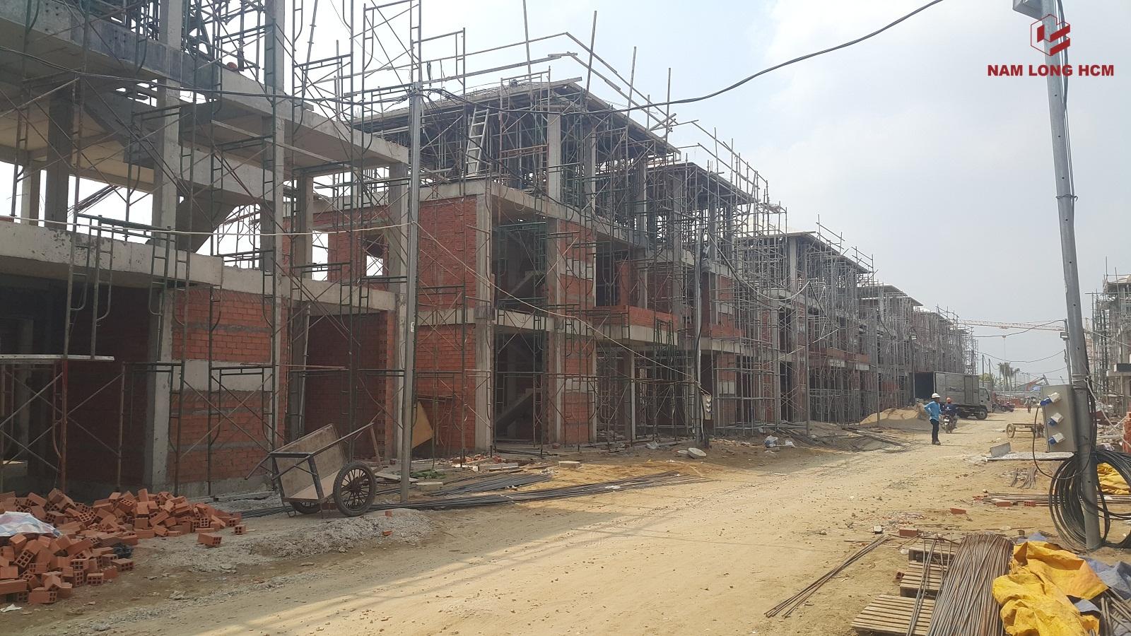 Tiến độ dự án Biệt thự Valora Island Nam Long Bình Chánh thang 02/2018. Ảnh: nam Long HCM