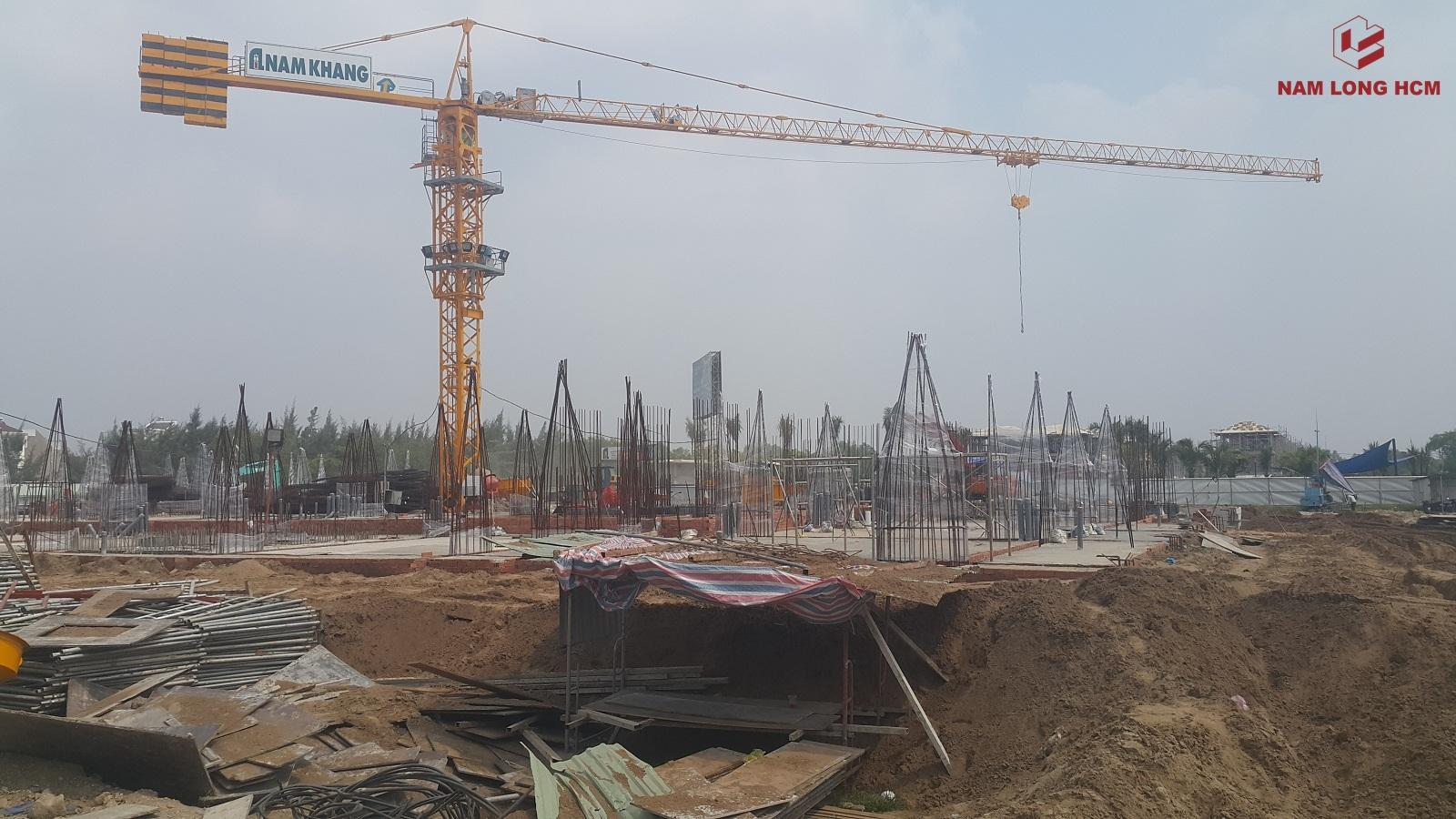 Block A  Ehome S Bình Chánh đã thi công xong phần sàn tầng trệt. Đây là Block Ehome thương mại của dự án. Ảnh: Nam Long HCM
