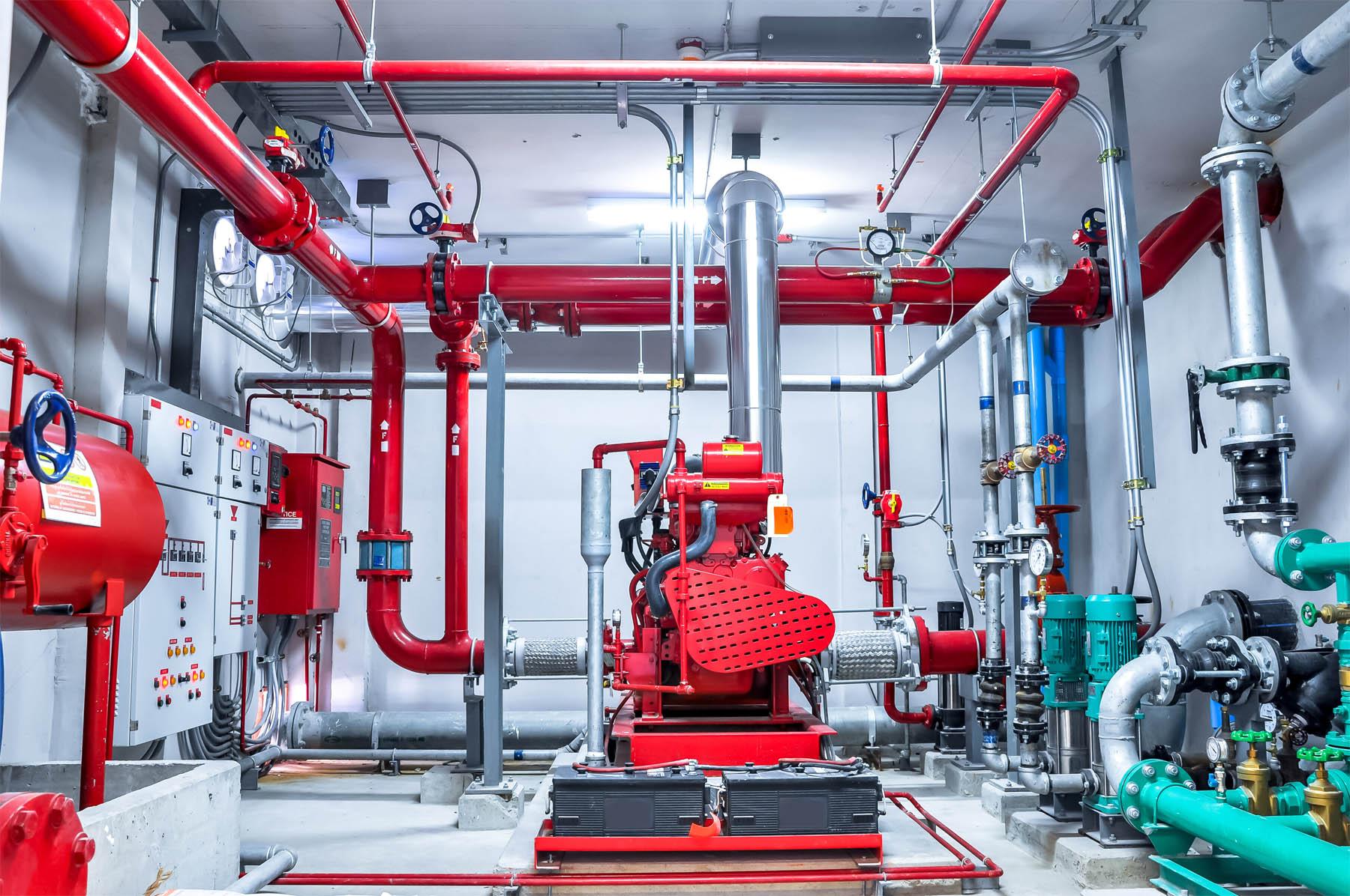 Hệ thống phòng cháy chữa cháy. Hình ảnh minh họa