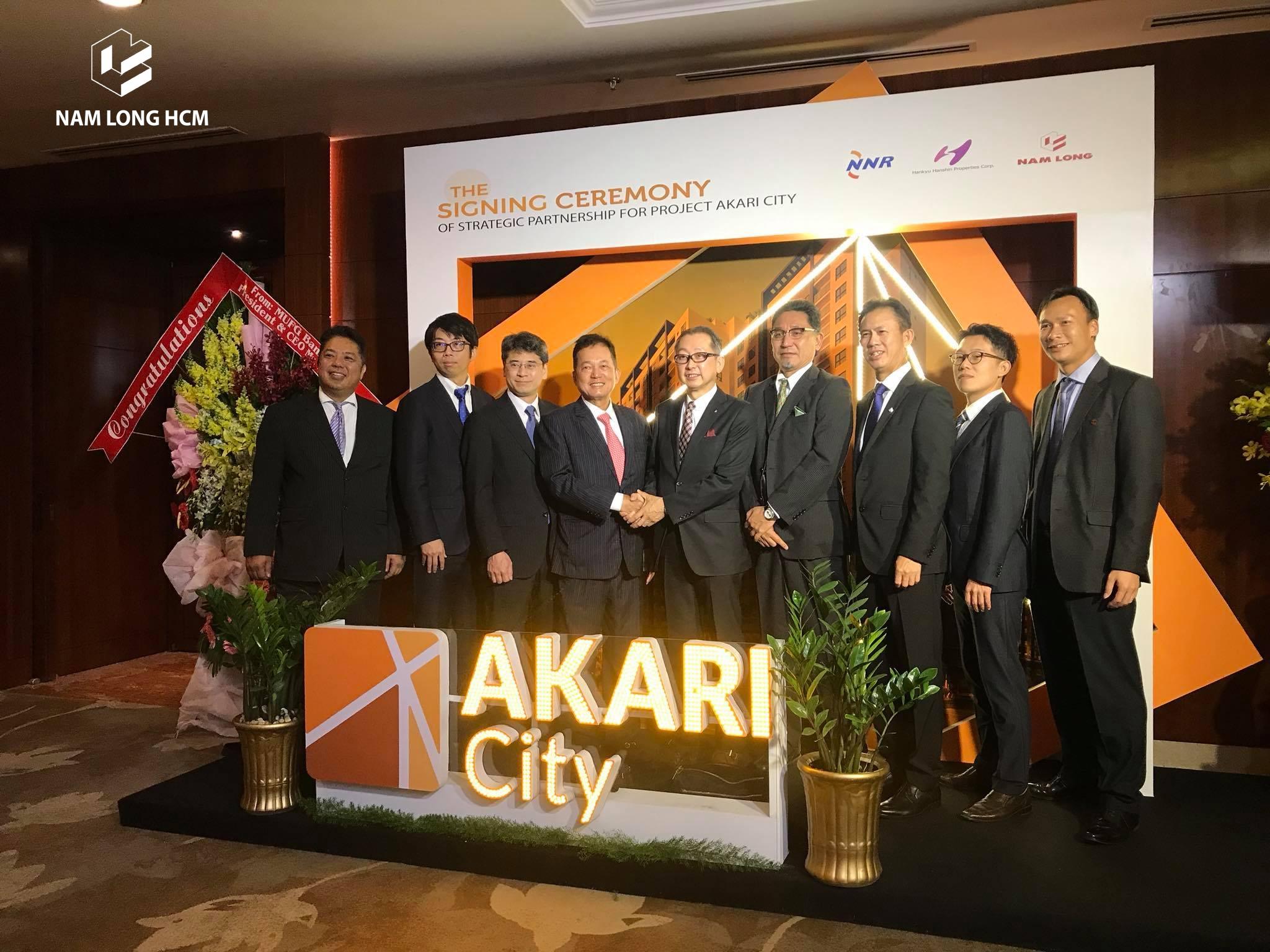 Lễ ký kết hợp tác giữa Nam Long và hai đối tác Nhật Bản phát triển dự án Akari City Bình Tân. Nam Long HCM