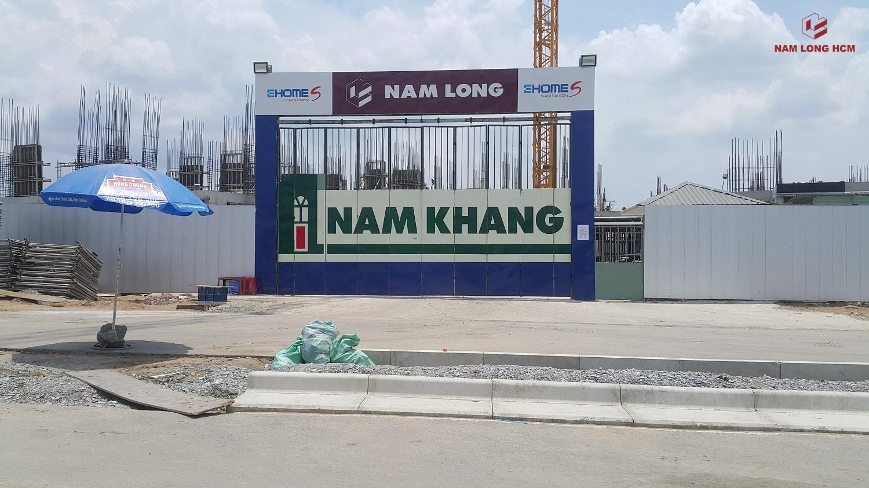 Cổng công trường Block A dự án Ehome Mizuki Bình Chánh. Ảnh: Nam Long HCM