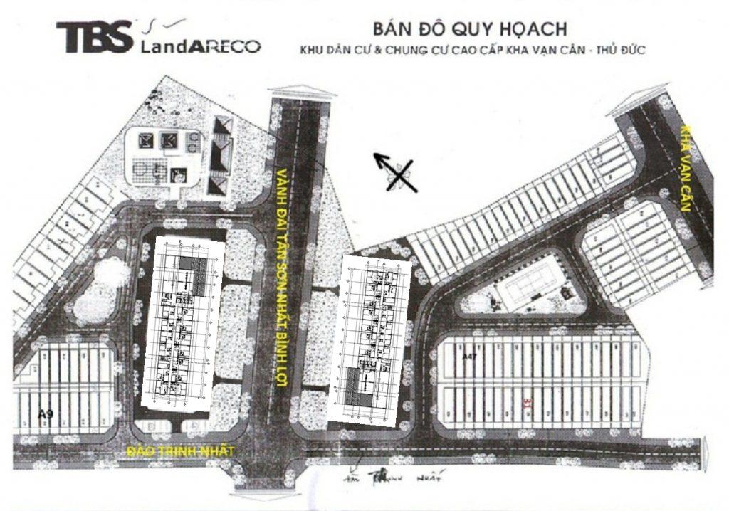 Mặt bằng khu dân cư Areco do TBS làm CĐT. Nam Long mua lại phần DT Chung cư để phát triển dự án Flora Novia.