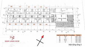 Mặt bằng điển hình tầng 5 của dự án FLORA NOVIA NAM LONG bố trí 13 căn hộ cùng tiện ích Hồ bơi, Phòng sinh hoạt cộng đồng.