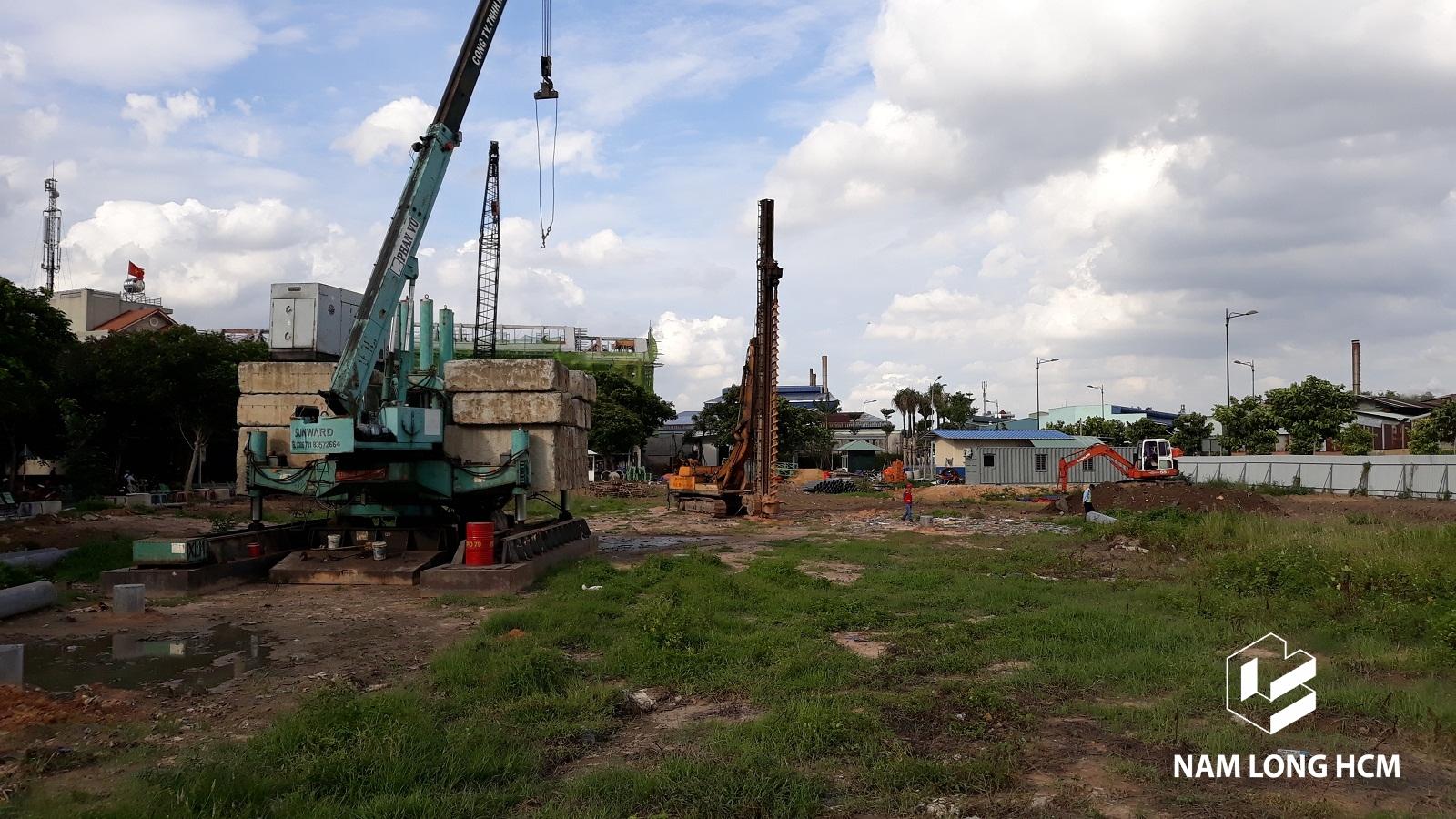 Tiến độ xây dựng dự án Flora Novia Thủ Đức Tháng 06/2018. Ảnh: Nam Long HCM
