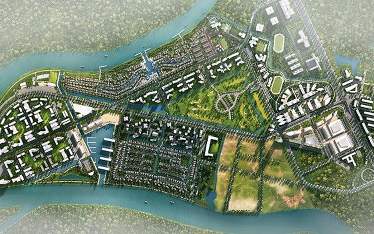 Dự án Waterpoint được con sông Vàm Cỏ Đông bao quanh