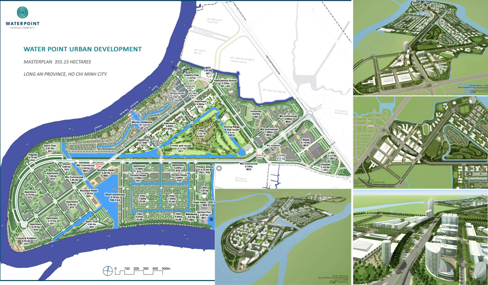 Vị trí dự án water point Nam Long. Ảnh minh họa