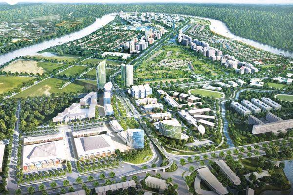 Phối cảnh tổng quan dự án waterpoint Nam Long. Ảnh minh họa