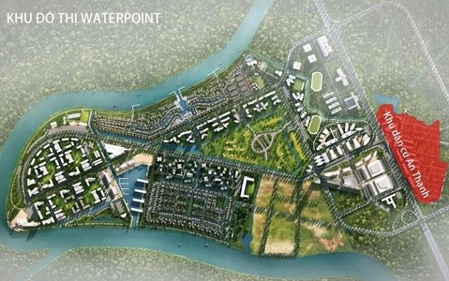 Phối cảnh dự án water point. Ảnh minh họa