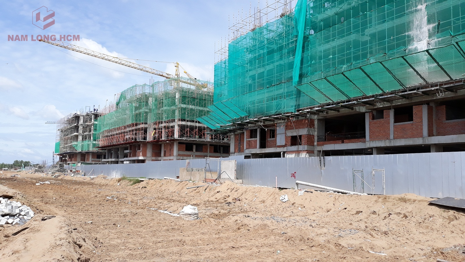 Tiến độ xây dựng Block B,D,E dự án Ehome S Bình Chánh - Nam Long HCM