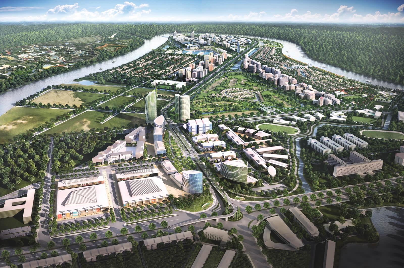 Phối cảnh dự án Waterpoint Long An do CĐT Nam Long phát triển.