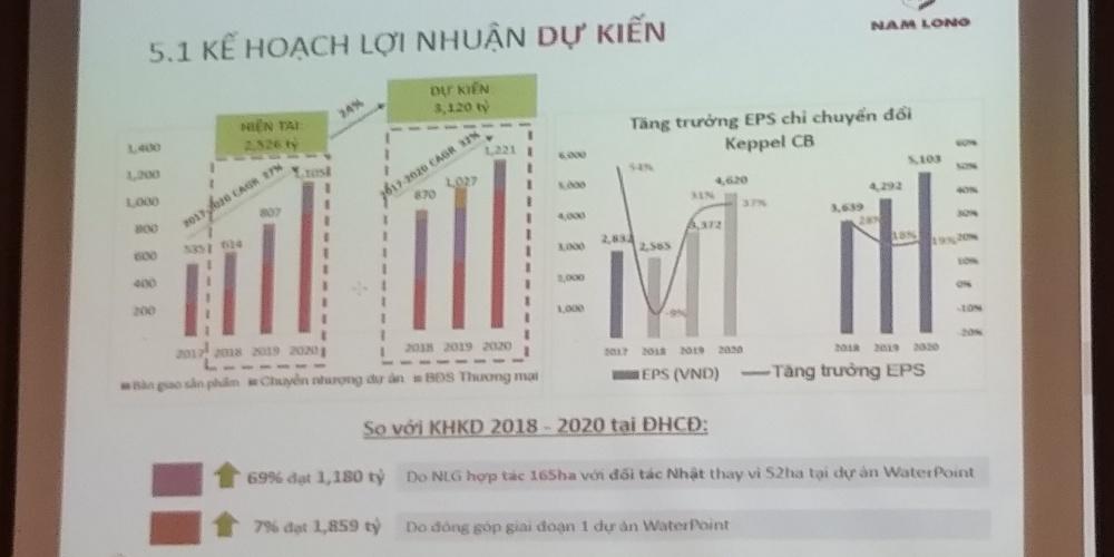 Kế hoạch lợi nhuận dự kiến Nam Long