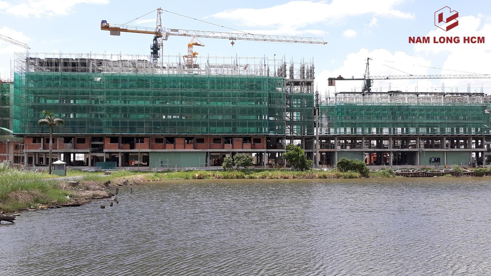 Block G đang thi công sàn tầng 5 và tầng 7. Ảnh: Nam Long HCM