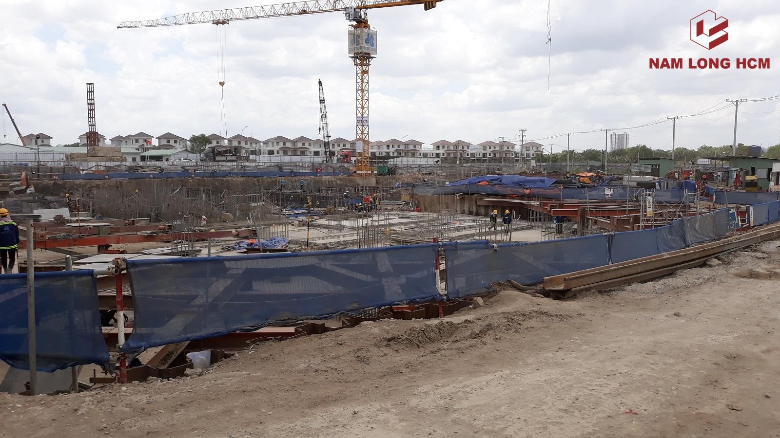 Hòa Bình đang thi công tầng hầng cho các Block Mizuki Park. Ảnh: Nam Long HCM