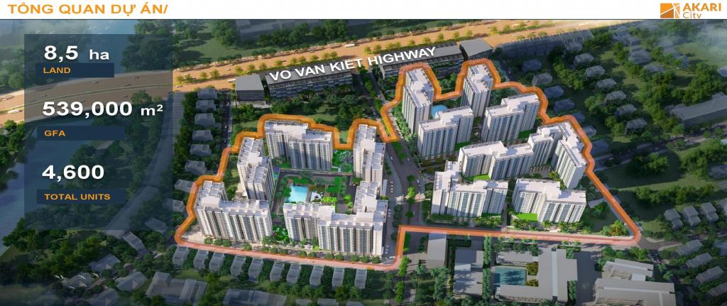 Phối cảnh dự án Akari City - Nam Long Bình Tân