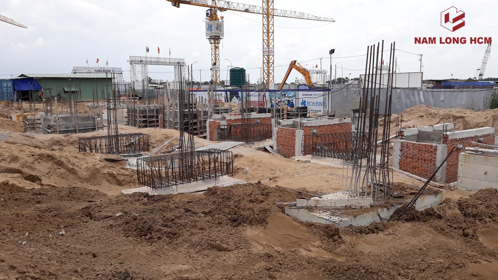 Tiến độ xây dựng nhà phố Valora Mizuki tháng 09/2018. Ảnh: Nam Long HCM