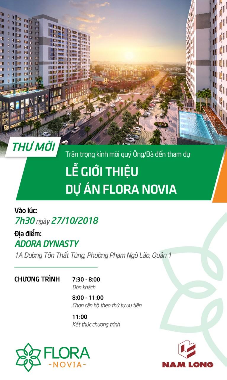 Thiệp mời tham gia Lễ giới thiệu dự án Flora Novia Thủ Đức