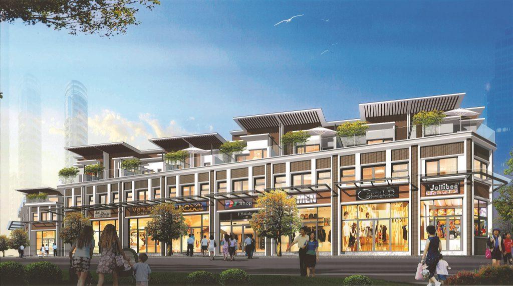 Phối cảnh nhà phố liên kế thuộc dự án Đảo Thiên Đường - Mizuki Park.