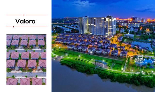 Dòng sản phẩm biệt thự Valora phát triển bởi Tập đoàn Nam Long.