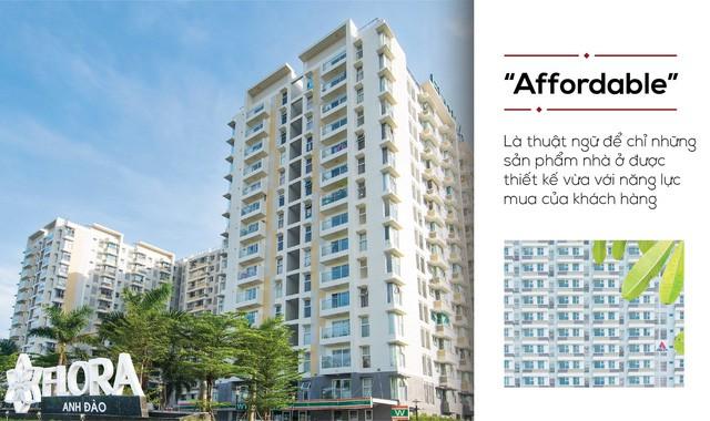 """Dự án Flora Anh Đào là dự án đầu tiên Nam Long hình thành nên sản phẩm căn hộ """" vừa túi tiền""""."""