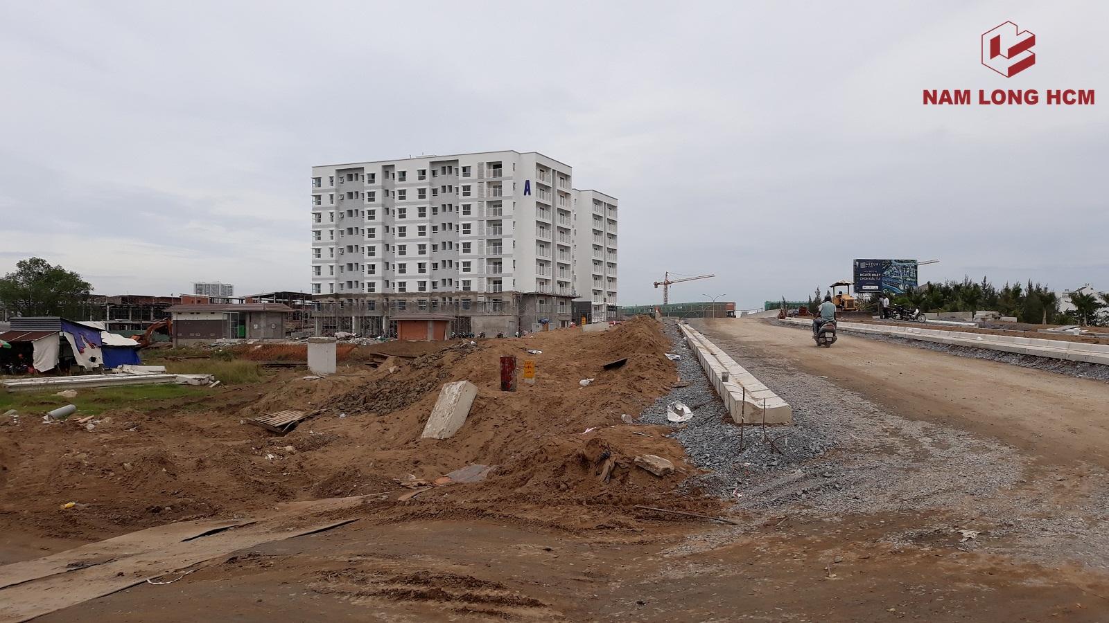 Block A - Dự án Ehome Nam Sài Gòn đang hoàn thiện nội thất. Ảnh: Nam Long HCM