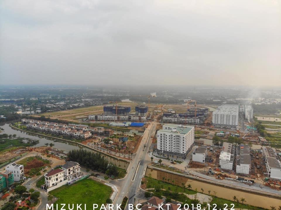Toàn cảnh dự án Mizuki Park Bình Chánh.