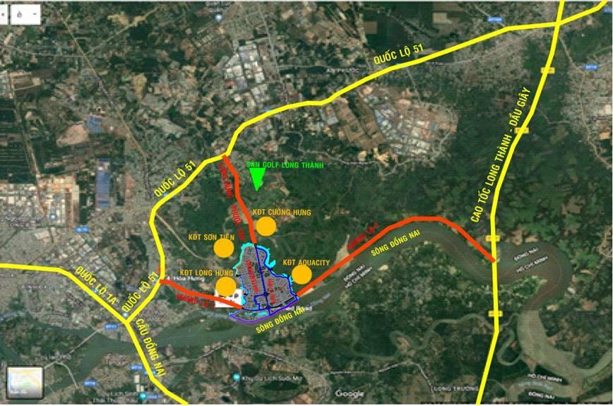 Vị trí dự án Đồng Nai Waterfront City Nam Long