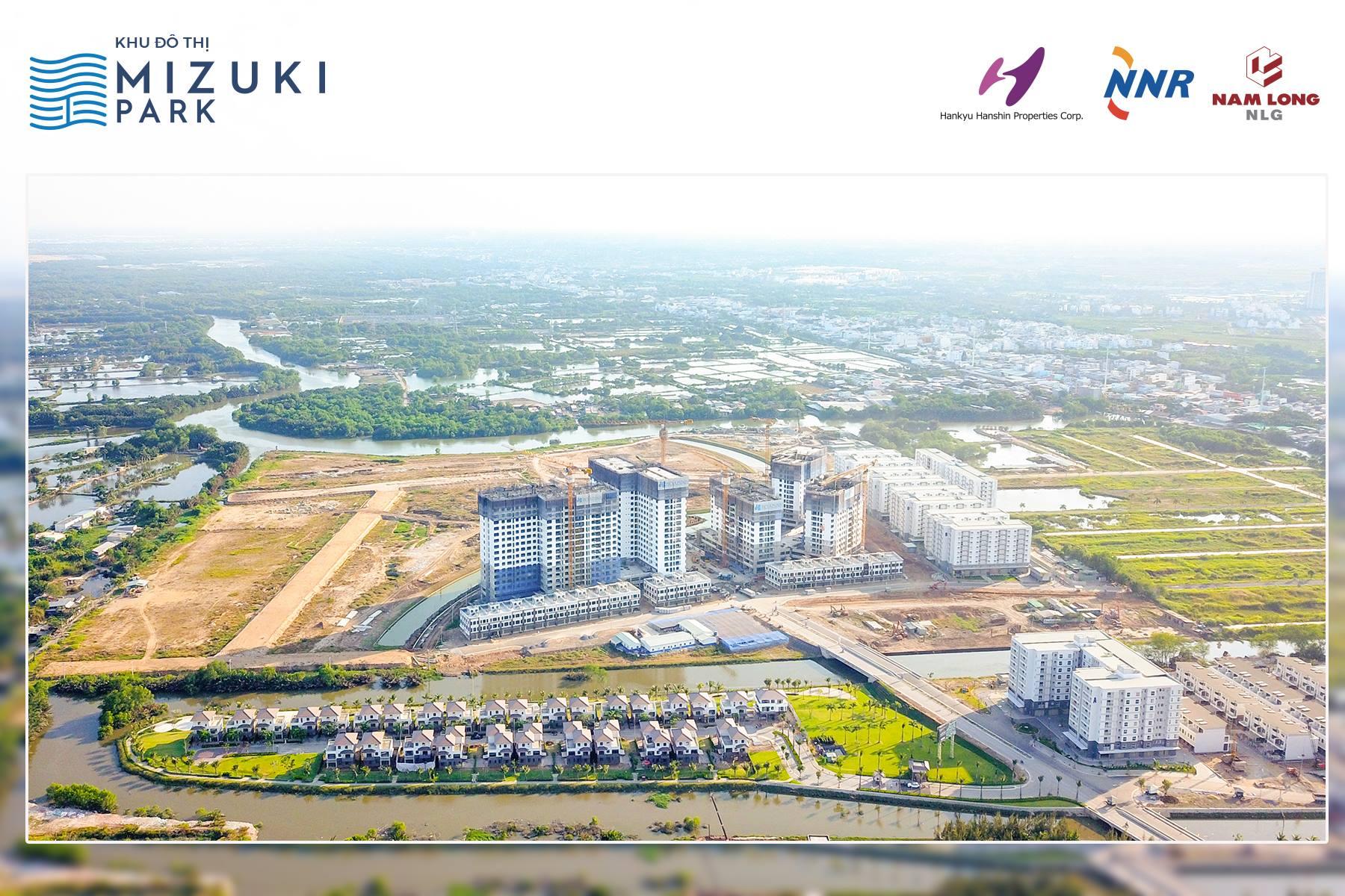 Khu đô thị Mizuki Park đang dần hình thành. Dự án có vị trí chiến lược khi dễ dàng di chuyển về Phú Mỹ Hưng