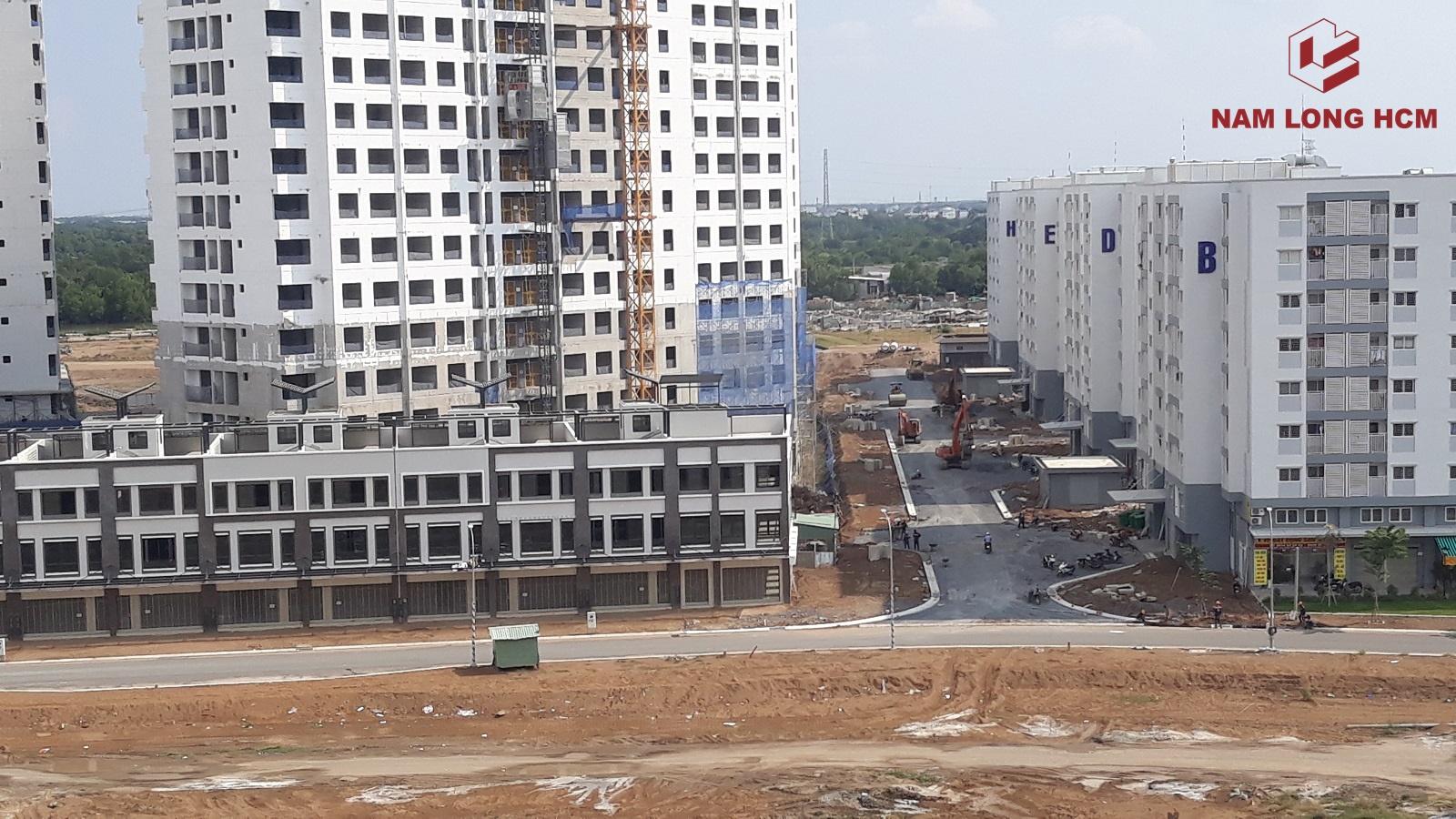 Tuyến đường N4 nằm giữa chung cư Ehome Nam Sài Gòn và cụm Block MP3,4,5 đang thi công. Ảnh: Nam Long HCM