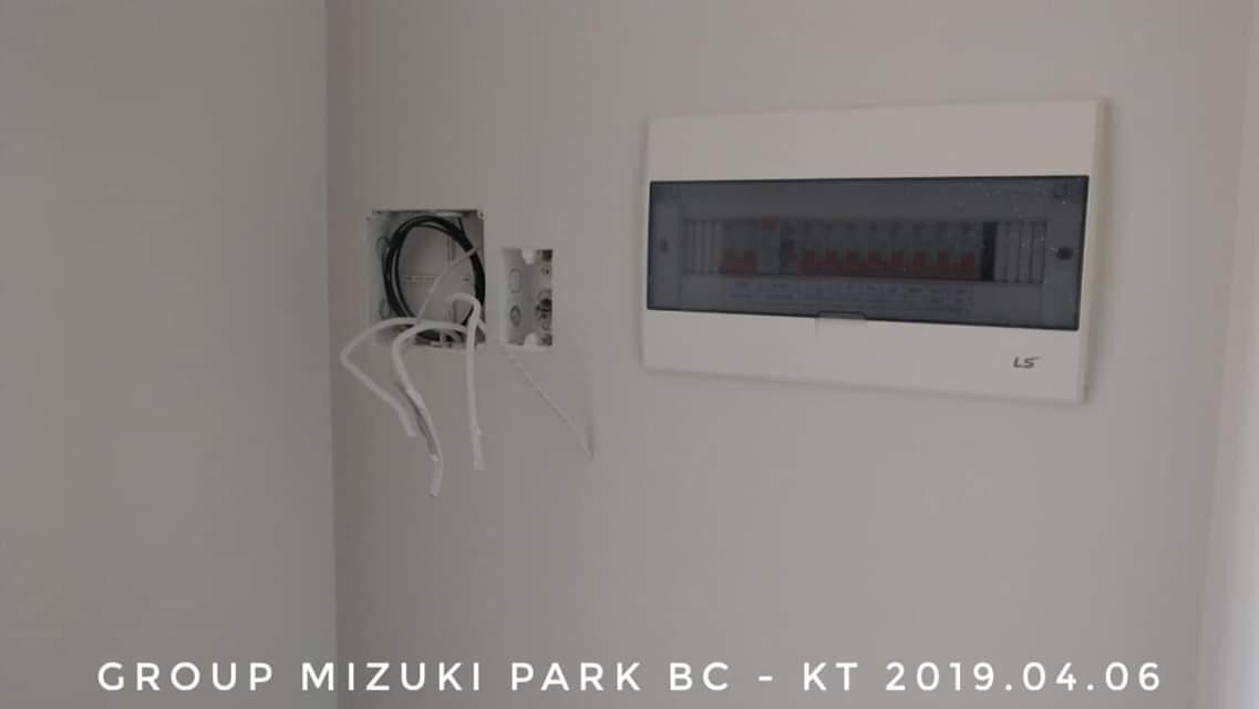 Thiết bị điện tại căn hộ mẫu.
