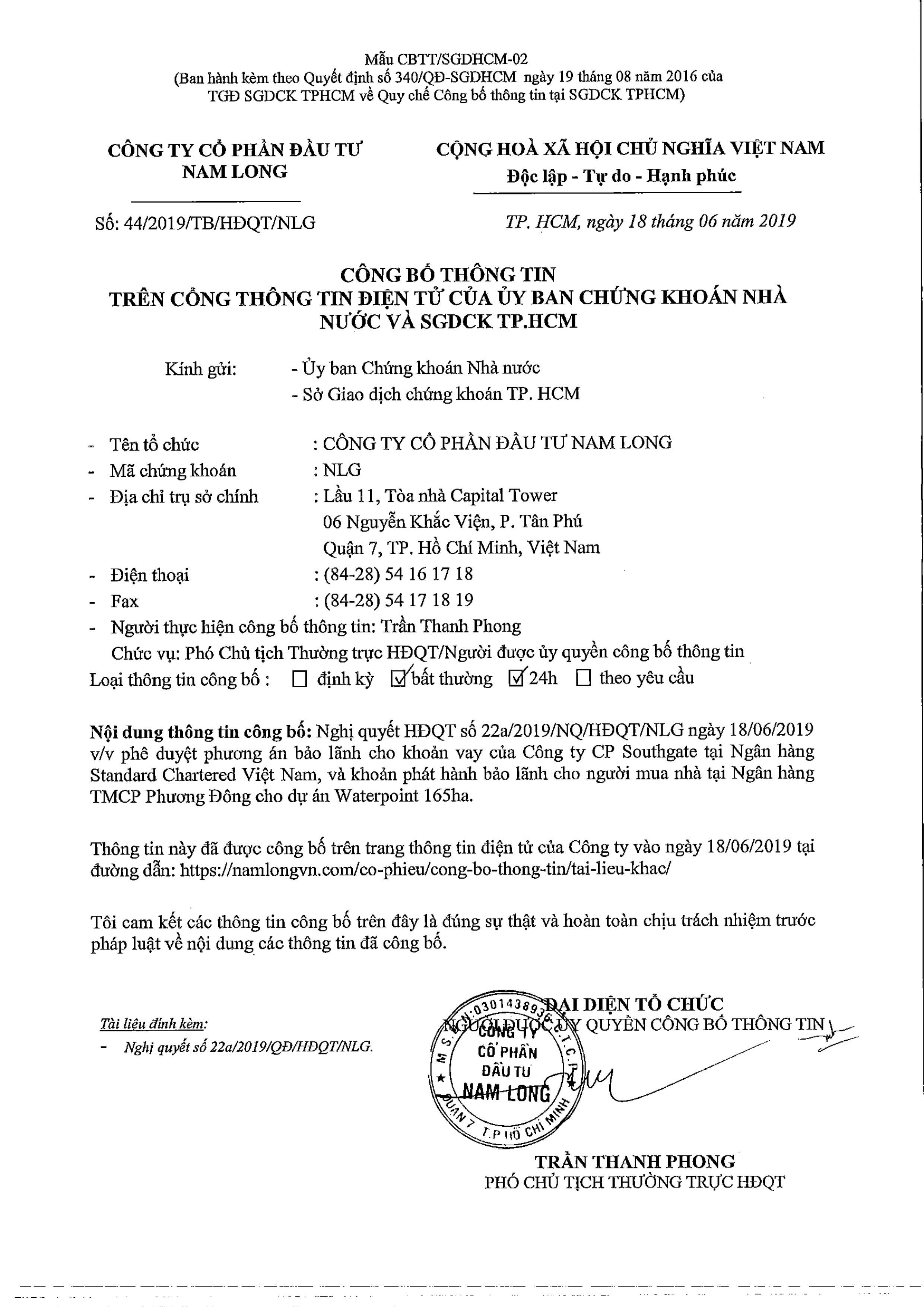 NGAN HANG BAO LANH DU AN WATERPOINT LONG AN NAM LONG HCM 01 - Waterpoint Long An - Dự án bất động sản được chờ đợi nhất năm 2019