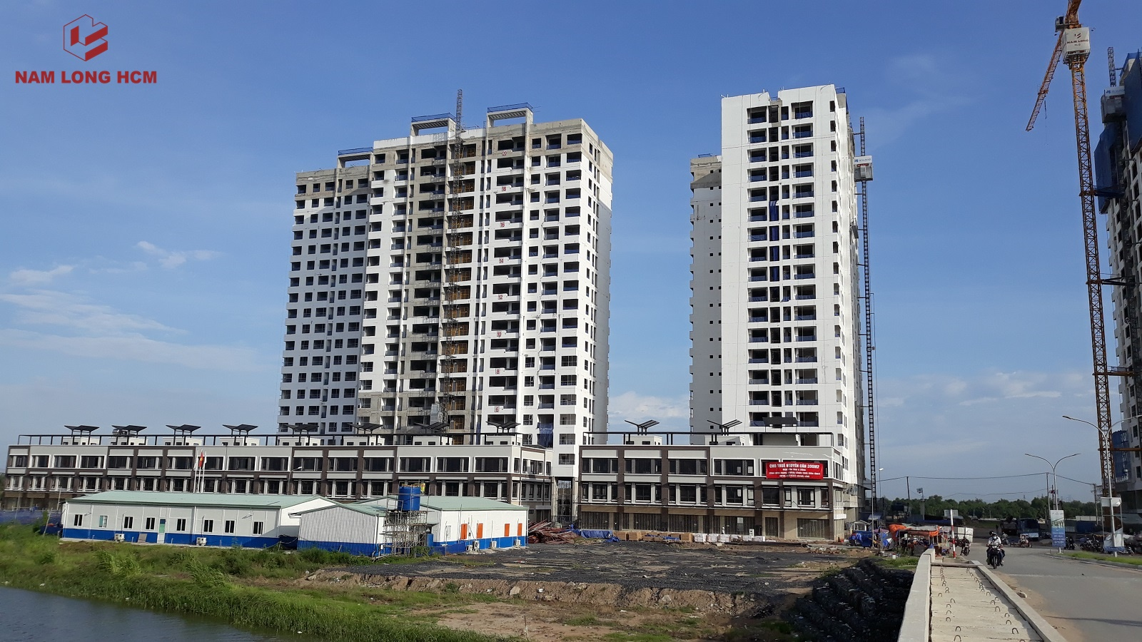 Block MP1 - MP2 Dự án Mizuki Park đang thi công hoàn thiện nội thất