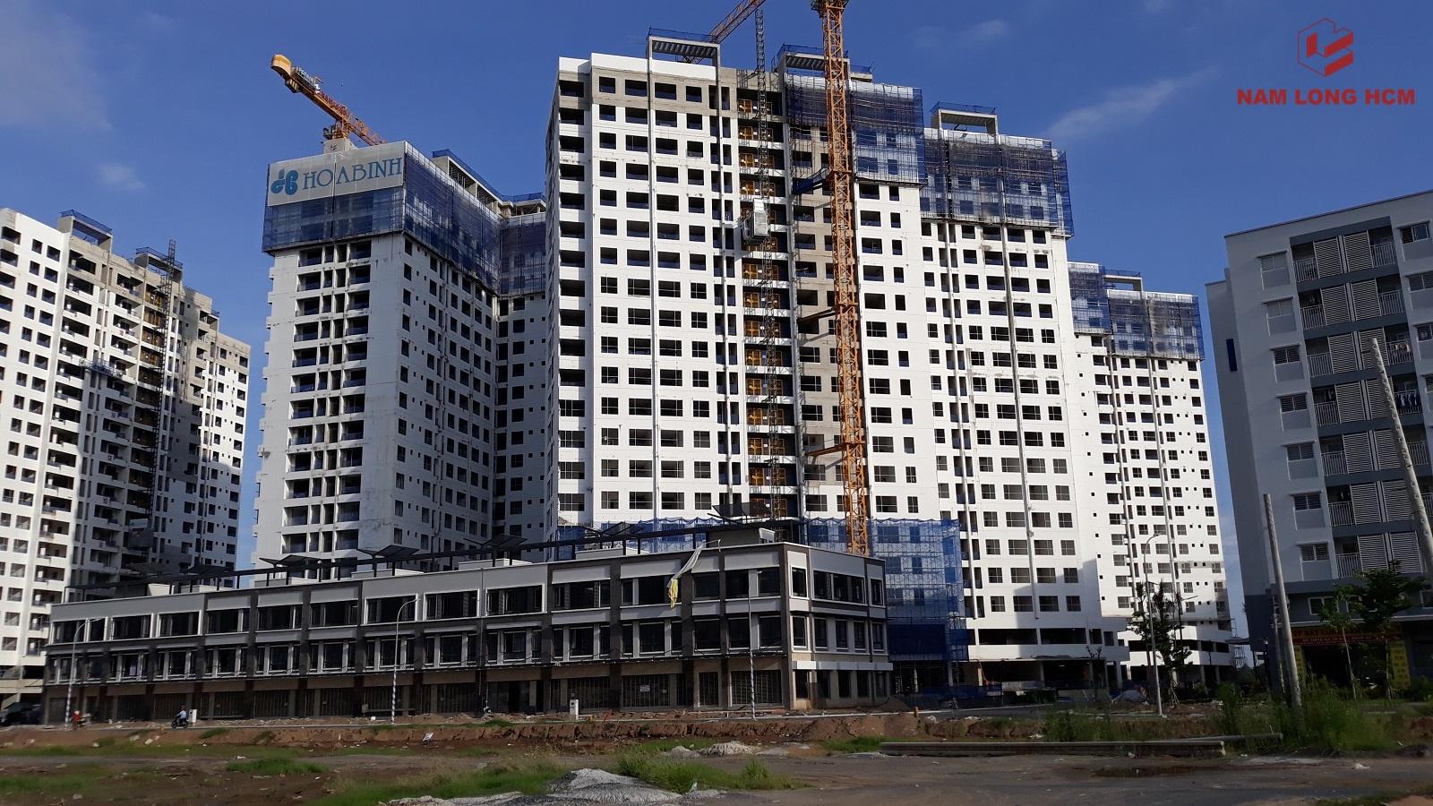 Tiến độ xây dựng Block MP3 - MP4 - MP5 dự án Flora Mizuki Bình Chánh