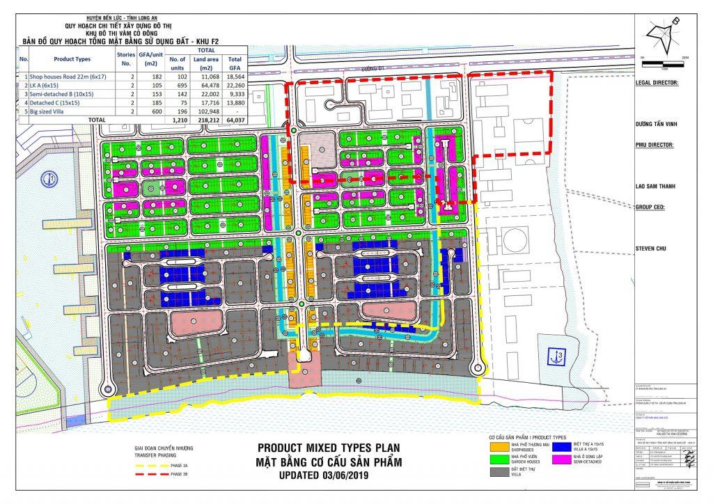 Bản đồ quy hoạch tổng thể mặt bằng sử dụng đất khu F2 - Phân Khu Aquaria