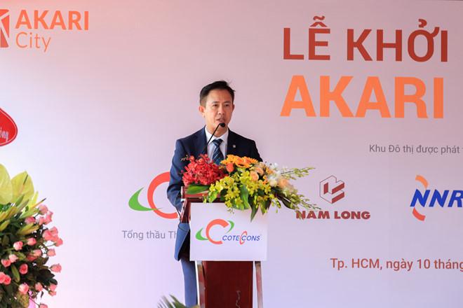 Ông Steven Chu Chee Kwang - Tổng giám đốc Tập đoàn Nam Long phát biểu tại buổi lễ - Nam Long HCM