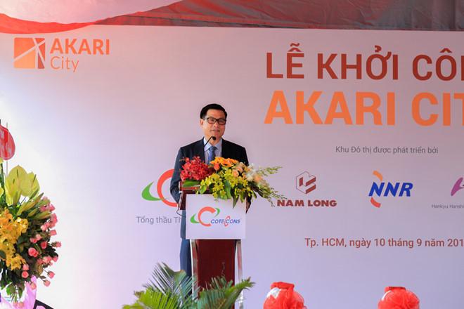Ông Nguyễn Bá Dương - Chủ tịch Coteccons phát biểu tại buổi lễ - Nam Long HCM