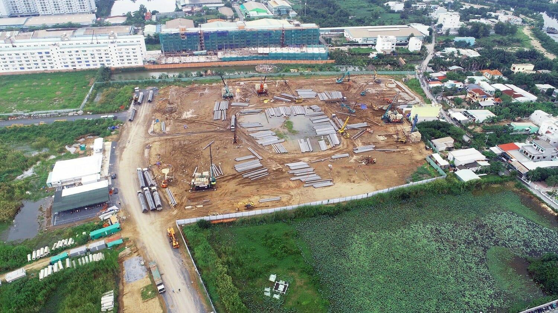 Toàn cảnh công trường xây dựng dự án Akari City giai đoạn 1