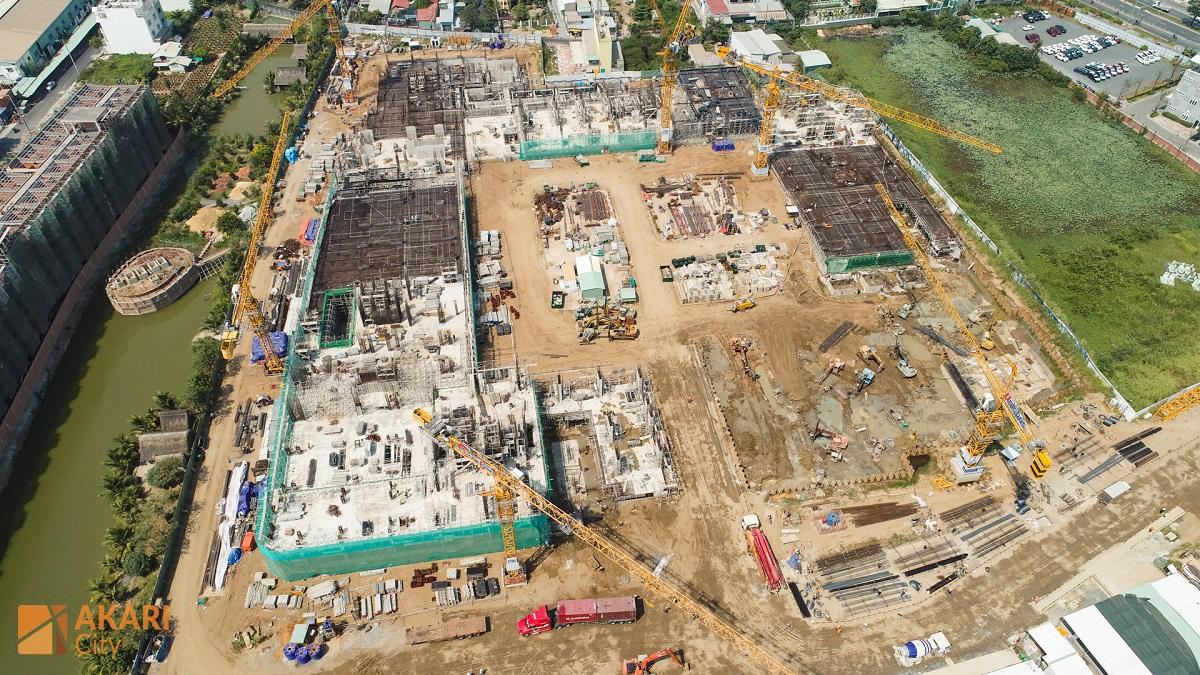 Tiến độ thi công 2 Block AK5 và AK6 dự án Akari City Bình Tân tháng 02/2020