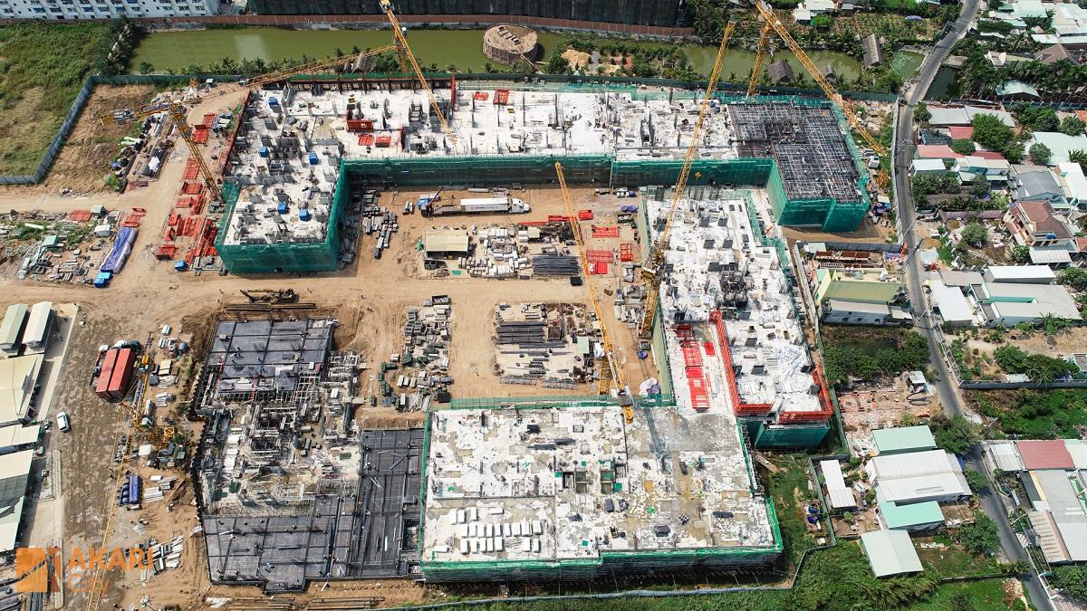 Đơn vị xây dựng Cotecons tích cực thi công xây dựng 6 Block thuộc giai đoạn 1 dự án Akari City Bình Tân