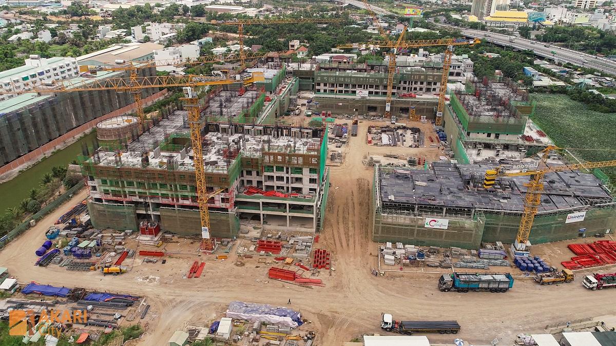 Toàn cảnh công trường xây dựng Akari City Bình Tân.